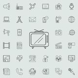 old TV icon. Detailed set of Media icons. Premium quality graphic design sign. One of the collection icons for websites, web desig stock illustration