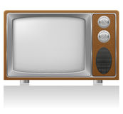Old tv  illustration Stock Photography