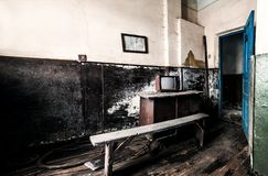 Old Tv In Abandoned Room Royalty Free Stock Photo