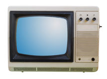 Old TV isolated Stock Photography