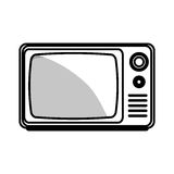 old tv isolated icon Stock Photography
