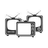 old tv isolated icon Royalty Free Stock Images