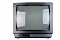 The old TV on the isolated Royalty Free Stock Photography