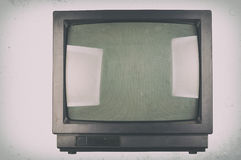 The old TV on the isolated Stock Photos