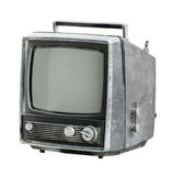Old TV isolated on white Stock Images