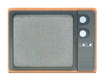Old TV and noise on the screen Royalty Free Stock Photo