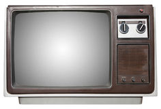 Old tv with outline Royalty Free Stock Images