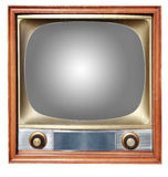 Old tv with outline Stock Image