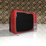 Old TV - Red Television Royalty Free Stock Photo