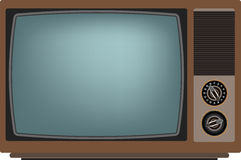 Old TV screen. Royalty Free Stock Images