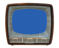 Old TV Set. Isolated on White Background Stock Images