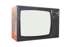 Old TV set. Old retro TV set. 70s style Royalty Free Stock Photography
