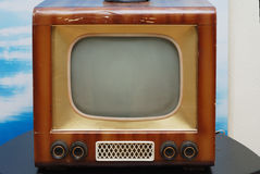 Old TV set. Old grunge television set on the table Royalty Free Stock Photos