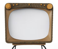 Old tv set for advertising Royalty Free Stock Image