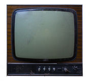 Old tv set. Isolated on a white background Stock Images