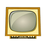 Old tv set vector. On white background Royalty Free Stock Photos