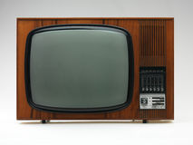 Old tv set on white background Stock Images