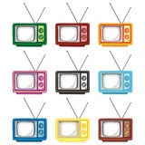 Old tv sets Royalty Free Stock Photo