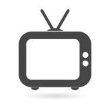 Old TV Television icon. Vector icon vector illustration