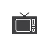 Old Tv, television icon vector, filled flat sign, solid pictogram isolated on white Royalty Free Stock Photos