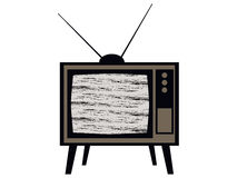 Old tv. Television interference. Retro. Vector Stock Photo