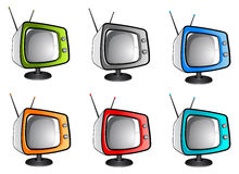 Old tv television (vector). Nice illustration of vector television with different colors Stock Photography