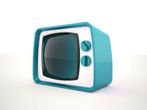 Old TV tiris on white background Royalty Free Stock Photography