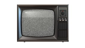 Old tv with turning channels Royalty Free Stock Images