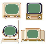 Old TV. Vintage Vector Set. Retro Apparatus Royalty Free Stock Image