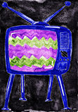 Old tv. Stock Images