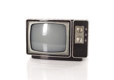 Old TV on the white Royalty Free Stock Photo