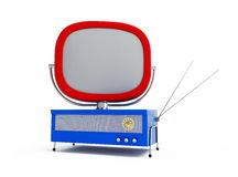 Old tv on a white background Royalty Free Stock Photo