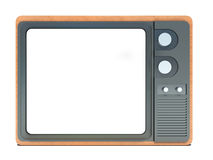 Old tv with a white screen Stock Image