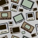 Old TVs seamless texture Stock Image