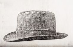 Old tweed hat drawing Stock Image