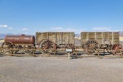 Harmony Borax Works. Old twenty-mule team wagon at the old Harmony Borax Works in Death Valley, California Stock Photography