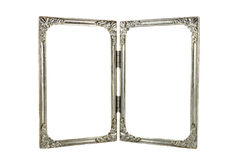 Old twin aluminium frames Royalty Free Stock Photo