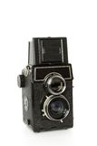 Old twin-lens reflex camera Stock Image