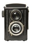 Old twin lens reflex camera 2. Old twin lens reflex camera, isolated on white background, studio lights, Canon 5D Royalty Free Stock Photo