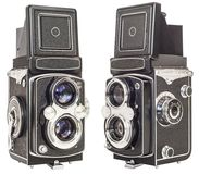 Old Twin Lens Reflex Camera Isolated On White Background Stock Image