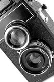 Old twin reflex camera Stock Image
