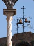 Old twisted pillar of white stone Stock Photos