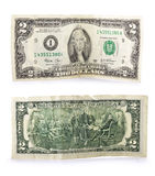 Old two bucks banknote Stock Photo