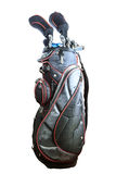 Old Two color golf clubs bag Royalty Free Stock Photography