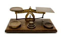 An old two pan balance Stock Photo