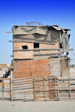 Old two-storey Hut. Farm on the outskirts of Jeddah royalty free stock photo