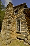 Old two story log cabin Stock Images