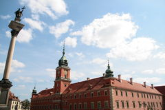 Old Twown in Warsaw. Palace of Kings in Warsaw Royalty Free Stock Image