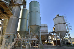 Concrete and asphalt mixing plant Royalty Free Stock Photo
