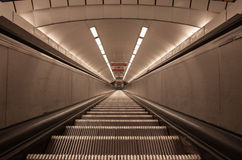 Old type escalator without people Stock Photography